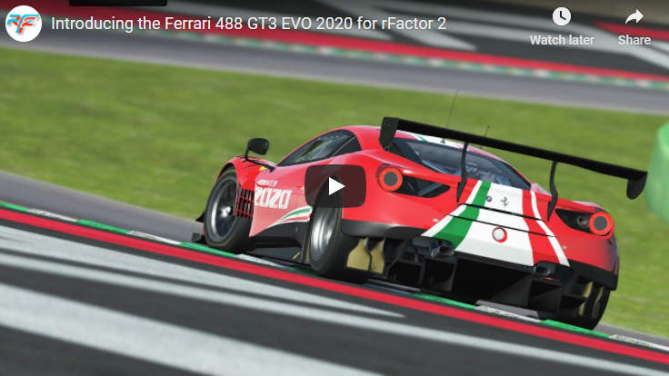 Video: Introducing the Ferrari 488 GT3 EVO 2020 for rFactor 2